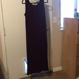 Tank top summer dress. Dark burgundy.